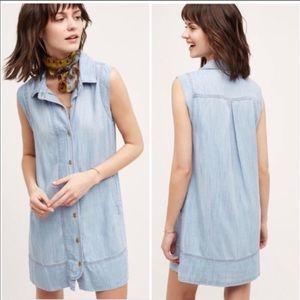 Cloth & Stone Chambray Button down dress sz M